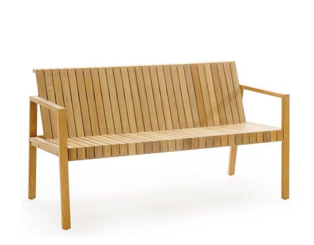 Gartenmobel Weiss Kunststoff : LIBERTY Gartenbank aus Teakholz in schlichter Eleganz