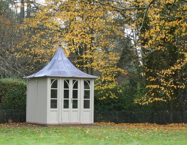 BOTHY Gartenhaus, Ø 2100mm mit Kathedraldach, Farbe Riverstone