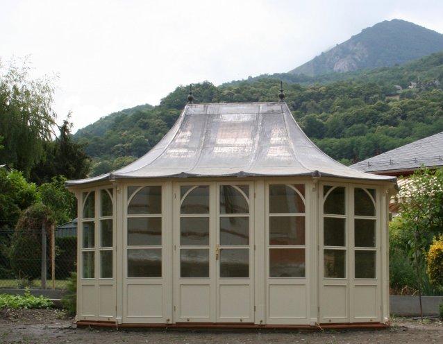 STOW Gartenhaus 4400x3000mm, Farbe Clotted Cream