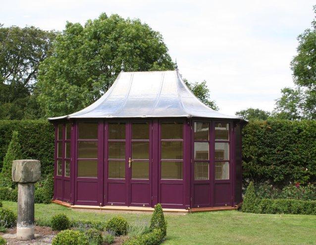 STOW Gartenhaus 4400x3000mm, Fenster ohne Rundbogen
