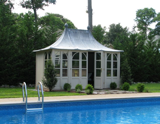 CHELSEA Gartenhaus, (LxB) 3800x2400cm, Farbe Sage