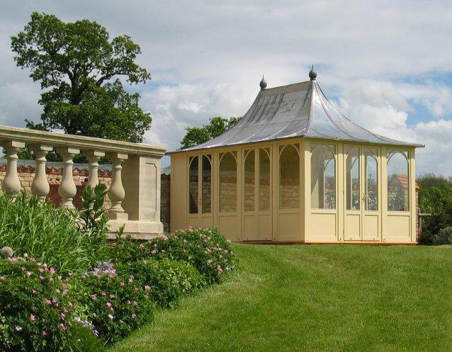 AIRLIE Gartenhaus, (LxB) 5200x3200mm, Farbe Clotted Cream