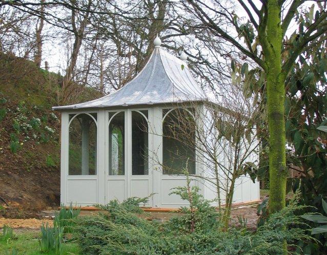 AIRLIE Gartenhaus, (LxB) 5200x3200mm, Farbe Sage