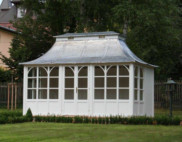 BRAEMAR Gartenhaus, (LxB) 4500x2500mm, Farbe Old White