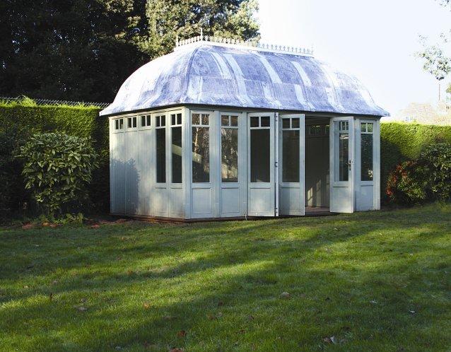 Büro-Gartenhaus, (LxB) 4800 x 2800mm, Farbe Cricket