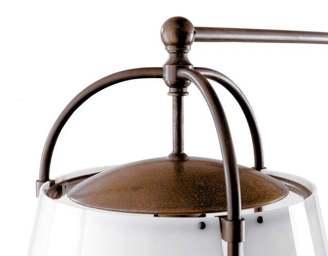 ELICRISIO Lapenschirm aus glänzendem Methacrylat, Detailansicht