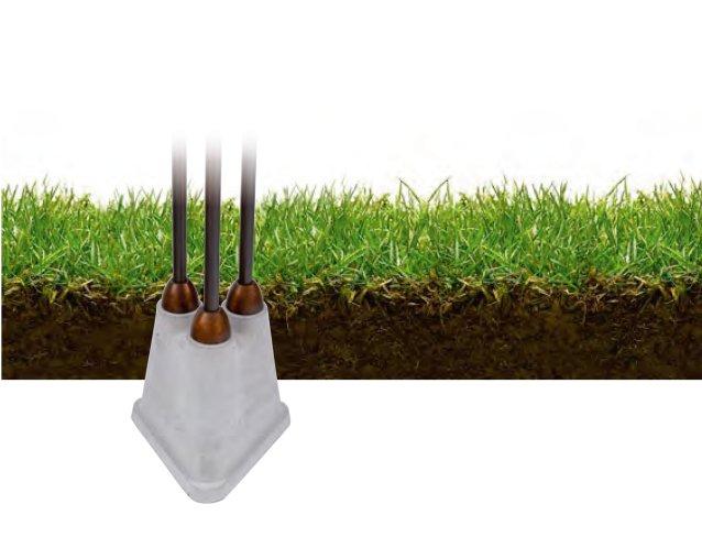 Erdsockel zur Verankerung von Aldo Bernardi Gartenleuchten im Erdreich