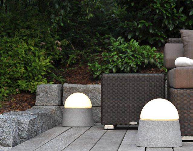Luxor Granicium® - mobile Gartenleuchten - hergestellt mit Granicium® Granit-Keramik