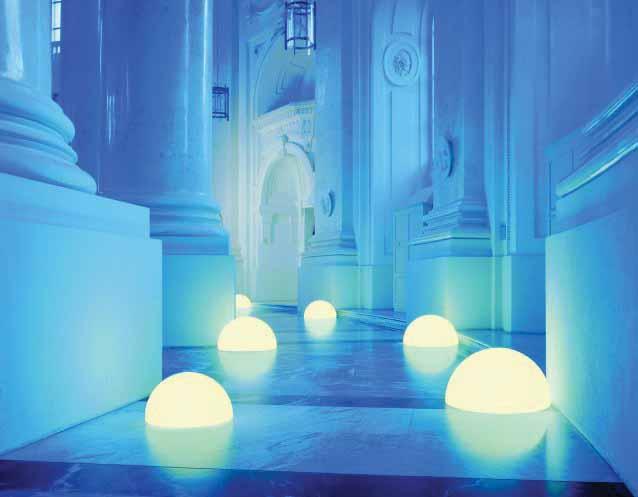 MOONLIGHT Halbkugel-Leuchten HMAGE 550mm mit blauen Farbfiltern (mit Aufschraubsockel)