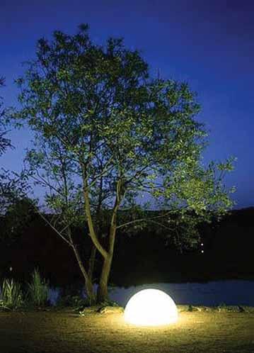 MOONLIGHT Halbkugel-Leuchte HMBG 750mm mit Eingrabsockel