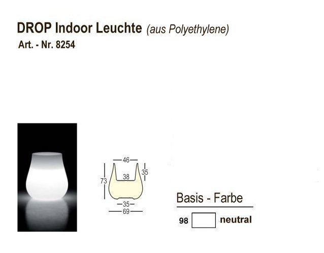 8254-98, DROP Indoor-Leuchten neutral