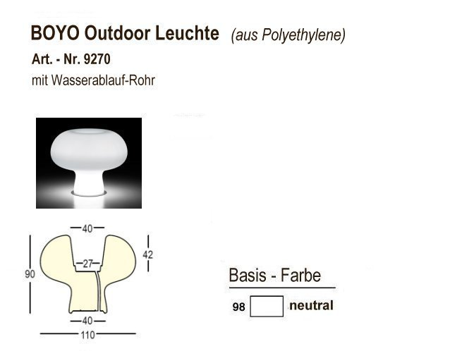 9270-98, BOYO Outdoor-Leuchte neutral