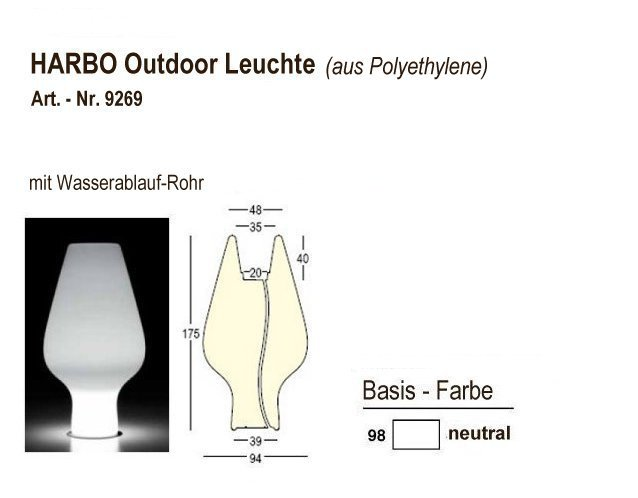 9269-98, HARBO Outdoor-Leuchte neutral