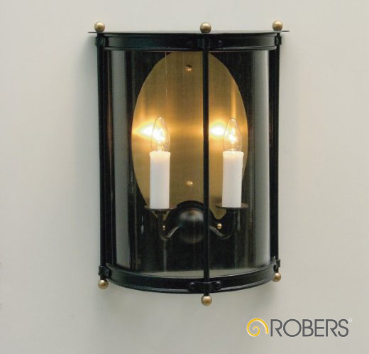 ROBERS Wandleuchte WL3459, Oberflächen-Optik in old black, Glas Nr. 350 Klarglas