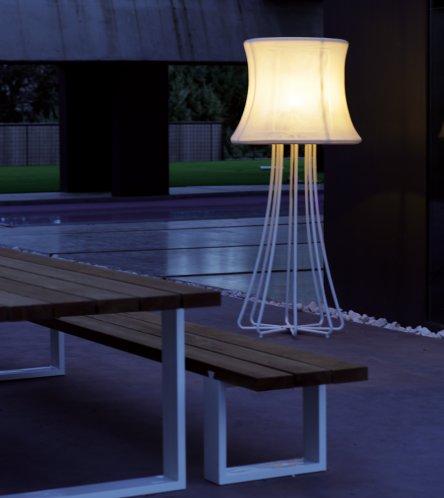 3D Standleuchte mit waschbarem Lampenschirm