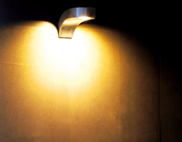 COBRA Wandleuchte aus Edelstahl mit Power Licht