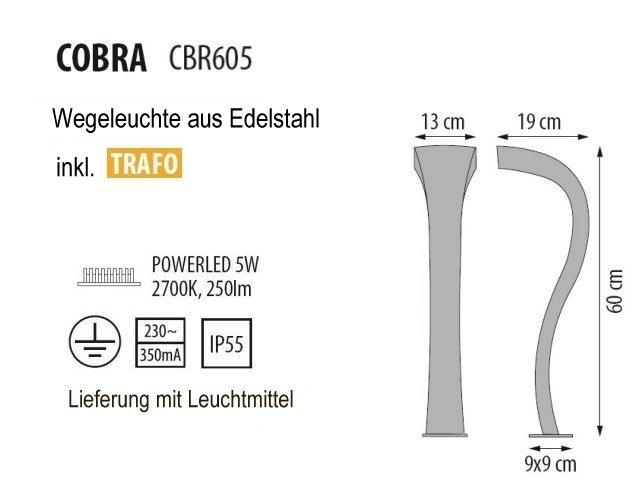 COBRA Wegeleuchte, technische Details