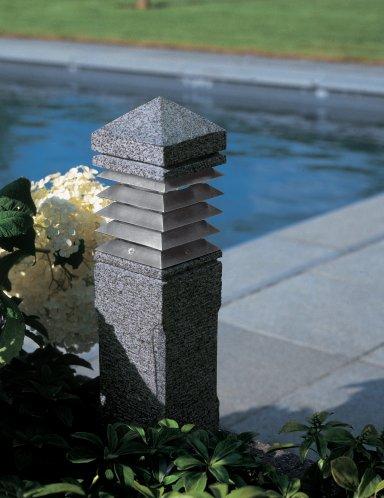 LIGHTHOUSE Pollerleuchte aus Granit, 40 cm hoch