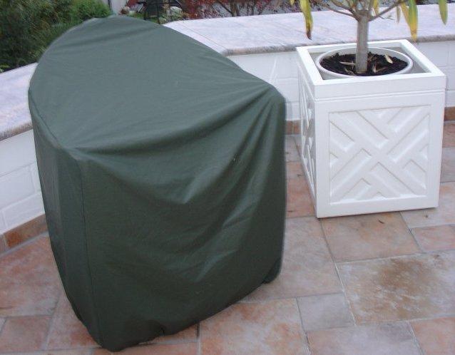 Wood-Cover Schutzhülle nach Maß für einen Geflecht-Sessel