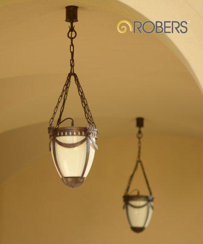 ROBERS Hängeleuchte mit Kette HL 2386, Oberflächen-Optik in Patina
