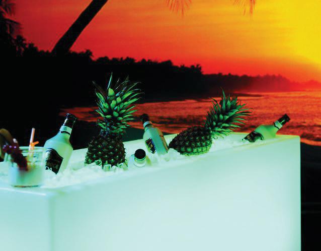 IceCube Getränkekühler, gut gefüllt für heiße Sommerabende