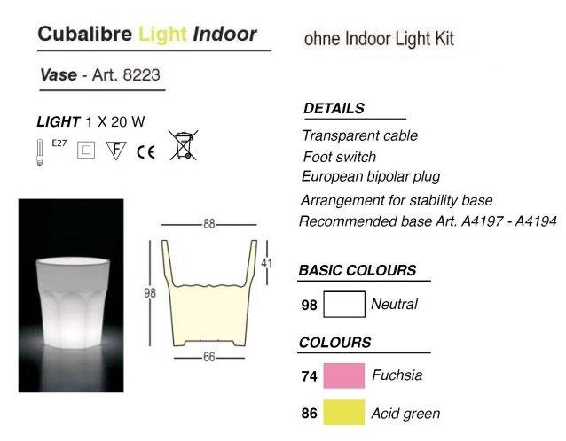 CUBALIBRE Indoor-Leuchte (auch als Kühlbehälter)