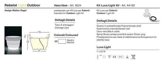 REBELOT Outdoor-Leuchte, Produktinformationen