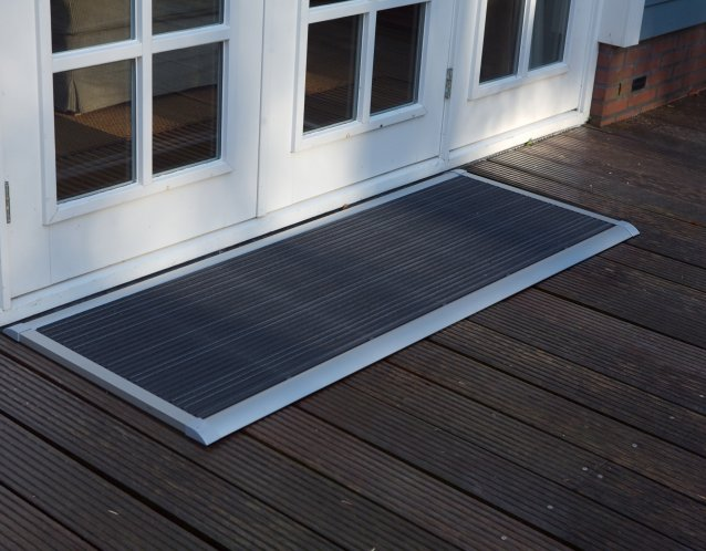 RiZZ Silver Outdoor Trmatte,  auffllig unauffllig