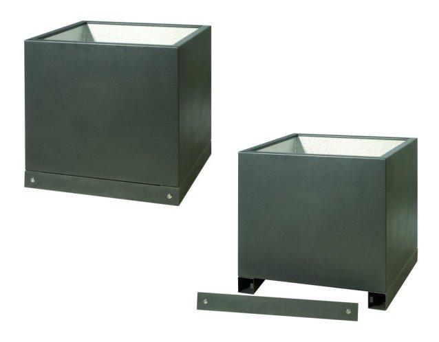 kubische pflanzgef e gartensilber hochwertige. Black Bedroom Furniture Sets. Home Design Ideas