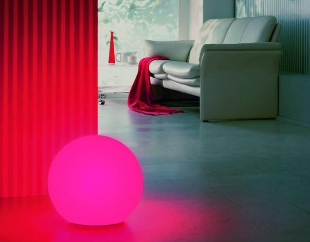 MOONLIGHT Vollkugel-Leuchten mit gelben Farbfiltern (mit Aufschraubsockel)