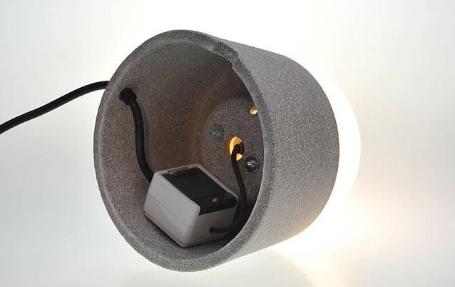 mobile Leuchte LUXOR Granicum® mit eingebauter Steckdose, schutzisoliert IP 43