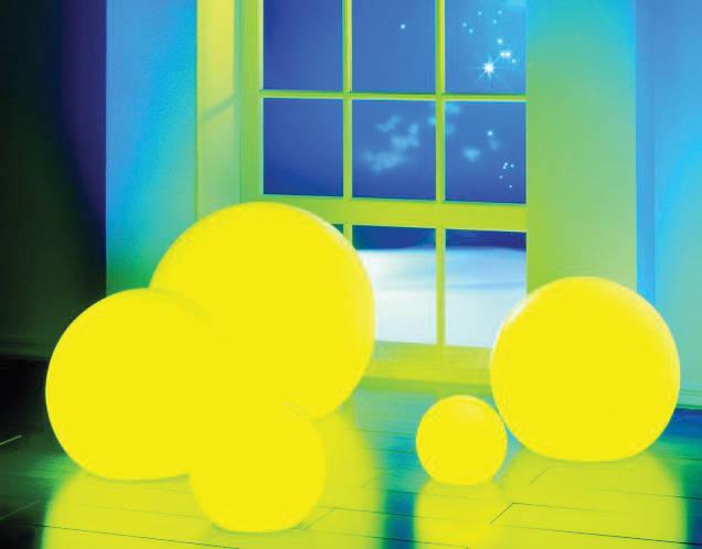 MOONLIGHT Leuchten mit gelben Farbfiltern