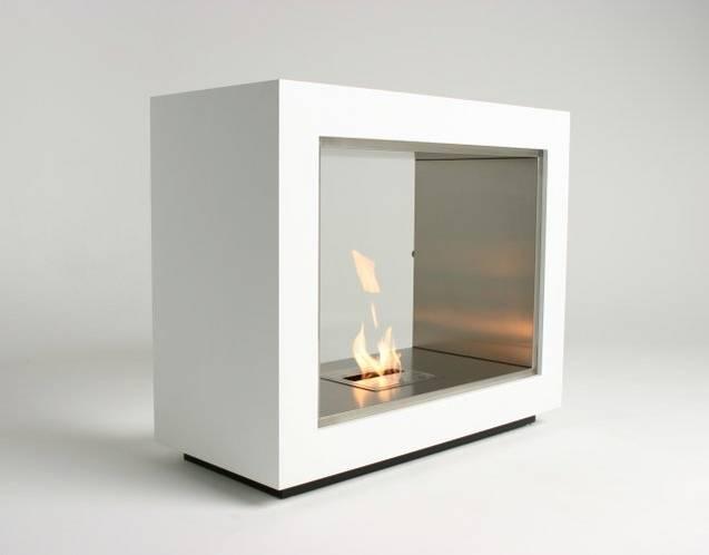 EcoSmart Feuerstelle VISION in der Standfardfarbe weiß