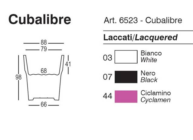 Pflanzgefe CUBALIBRE Farbsortiment (lackiert)