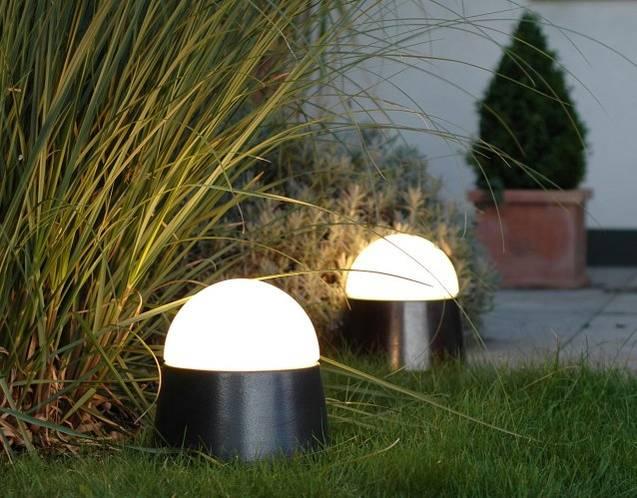 DENK LUXOR mobile Leuchte mit aufgeschraubter Opalglas-Kuppel